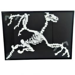 Dragon skeleton pixel art
