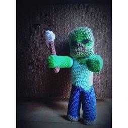 Amigurumi Zombie from Minecraft