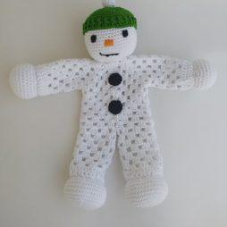 Πλεκτό Νάνι Αγκαλιάς Χιονάνθρωπος