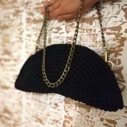 Χειροποίητη τσάντα φάκελος με αλυσίδα LEZAVA