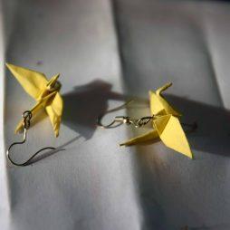 σκουλαρικια οριγκαμι