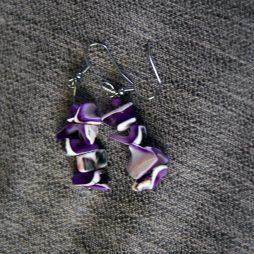 χειροποιητο set βραχιολι και σκουλαρικια