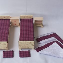 Vintage Double bed set scale 1:6 (size barbie)
