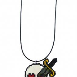 skeleton head pixel art